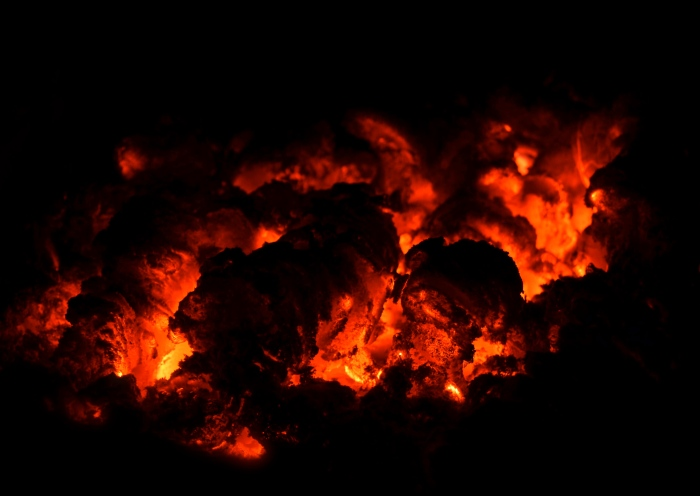 Nighttime napalm fire cropped-ed