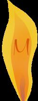 lit match M logo